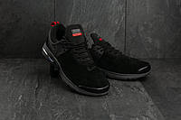 Модные демисезонные кроссовки Nike Training,замшевые,черные, фото 1