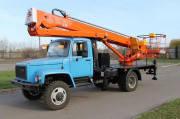 Автогидроподъемник ВС-22Т-01 на базе шасси ГАЗ-3309 (2-х мест. кабина)