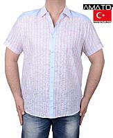 Летние мужские рубашки с коротким рукавом.Большие размеры