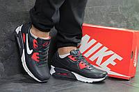 Мужские кроссовки Nike air max, темно синие с белым, фото 1