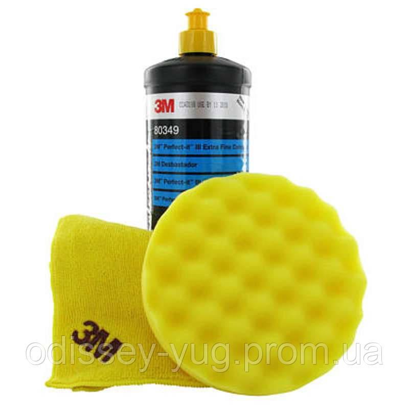 Абразивная полировальная  паста 3M™ 80349, Perfect it lll Extra Fine,1 л, желтый колпачок.