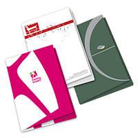 Папки с логотипом, заказать папки ля компании