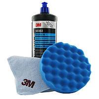 Полировальная паста 3М™ 50383  Perfect-it III Ультрафина, голубой колпачек, 1 л. Антиголограммная паста
