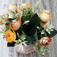 "Акция! Композиция из искусственных цветов ""Pretty Roses"" 10*17см Stenson (R87243) [Цена снижена на 10% !]"