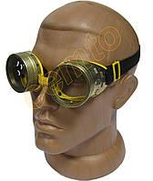 Очки ЗНР-Т стеклянные с металлической оправой защитные закрытые с прямой вентиляцией, фото 1