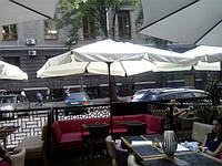 Квадратный зонт МИЛАН для кафе, ресторана, 3х3