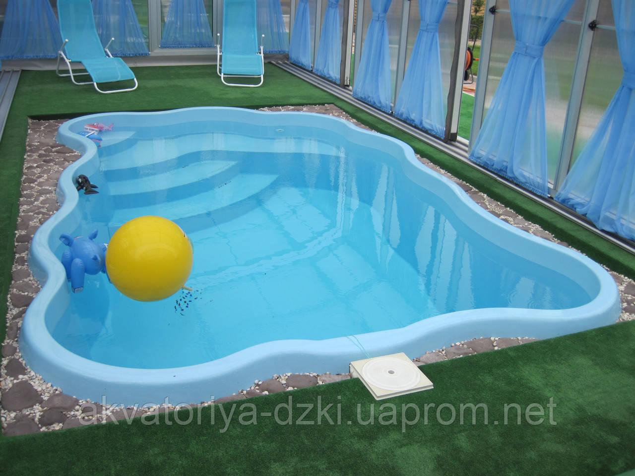 """Стекловолоконный бассейн А5 Light """"Пять на три"""" (4,80х3,05м)"""