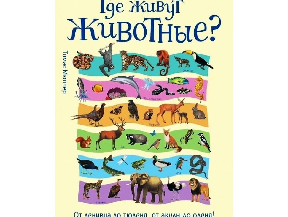 Где живут животные? От ленивца до тюленя, от акулы до оленя!.