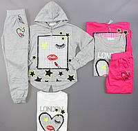 Трикотажный костюм-тройка для девочек Crossfire оптом, 134-164 pp.