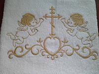 Крыжма 70Х140 с золотой вышивкой (маленькая)