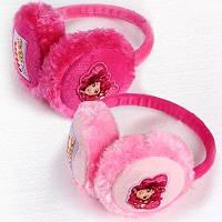 Детские махровые наушники для девочек Disney оптом.