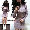 Платья вязка, 50% шерсть, 50% акрил.длина 85 см. Размер:42-46. Разные цвета (6018), фото 9