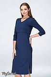 Платье для беременных и кормящих PAM DR-19.011 темно-синее, фото 6
