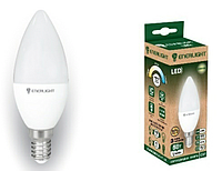 Свеча Лампочка светодиодная ENERLIGHT С37 9Вт 3000K E14