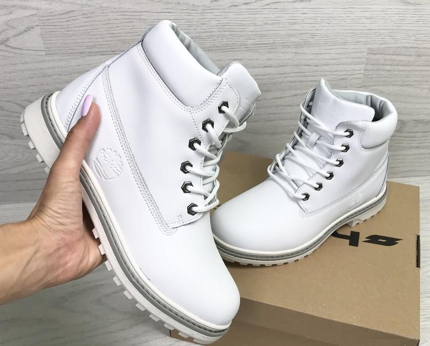 Зимние ботинки Timberland (нубук, белые) - Мужские кроссовки  CrossKed.com. e627ad547e5