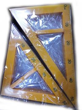 Треугольник для доски равнобедренный + равносторонний 5965 Josef Otten (набор из 2 шт), цена за 30 наборов