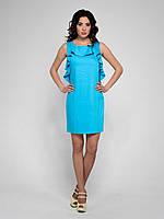 Молодежное летнее платье ТМ Klairie, из стрейч-коттона, 42р.