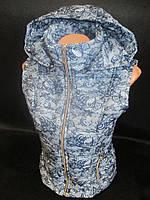 Легкие женские жилетки из плащевки с капюшоном., фото 1