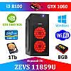 Супер игровой ПК ZEVS PC 11859U i3 8100 + GTX 1060 3GB