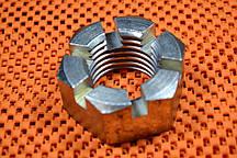 Гайка прорезная М10 оцинкованная DIN 937 низкая