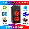 Супер игровой ПК ZEVS PC 11860U i3 8100 +GTX 1060 3GB +16GB DDR4 +Игры