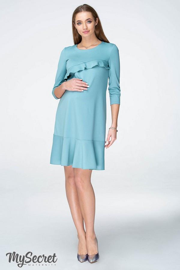 Платье для беременных и кормящих SIMONA DR-19.072, полынное