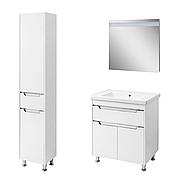 Комплект мебели для ванной комнаты Валенсия 70 белый (напольный)