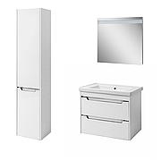 Комплект мебели для ванной комнаты Валенсия 70 белый (подвесной)