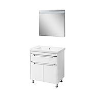 Мини-комплект мебели для ванной комнаты Валенсия 70 белый (напольный)