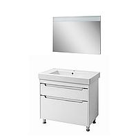 Мини-комплект мебели для ванной комнаты Валенсия 90 белый (напольный)