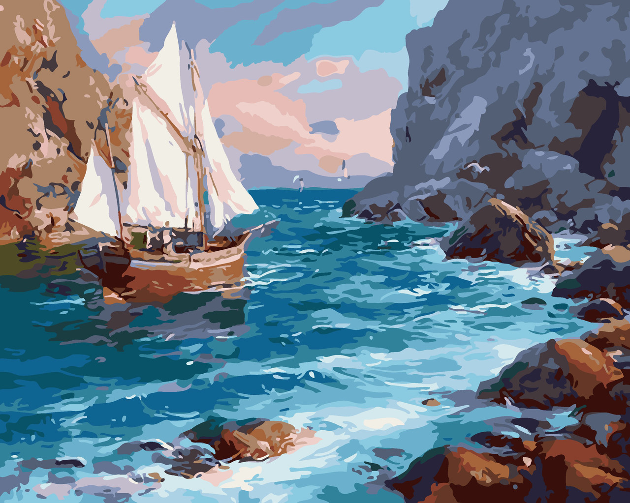 Художественный творческий набор, картина по номерам У берега, 50x40 см, «Art Story» (AS0021)