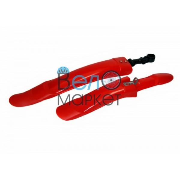 """Крыло """"Выдвижное """" (красное) пластиковое под 24-26 диаметр колеса, заднее крыло выдвигается"""