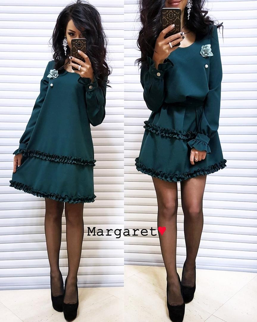 Платье с поясом, костюмка люкс качества. Размер:42-44. Разные цвета (6015)