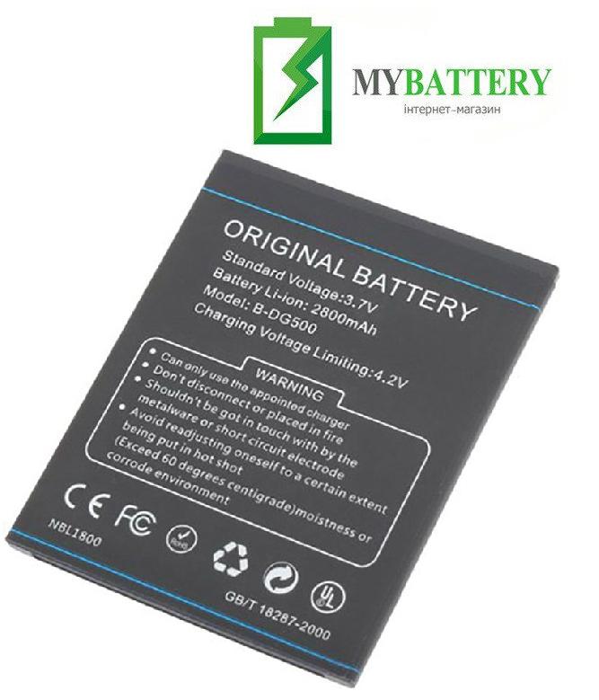 Оригинальный аккумулятор АКБ батарея для Doogee Discovery DG500 B-DG500 2800mAh 3.7V