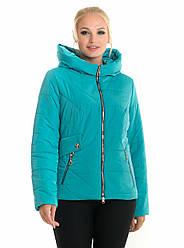 Молодежная, весенняя, демисезонная куртка с капюшоном, размер с 44 по 56, бирюза(65)