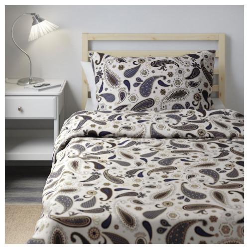 Комплект постельного белья IKEA SÖTBLOMSTER 150х200 50х60 см белый синий  302.584.61 4f0048c76d069