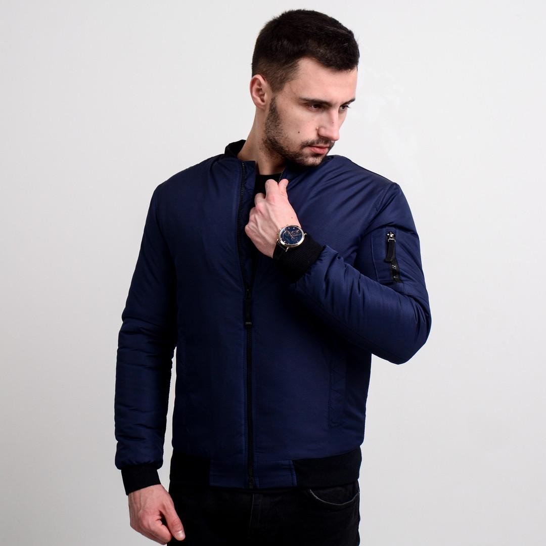 Куртка мужская (бомбер синего цвета). Куртка чоловіча. ТОП КАЧЕСТВО!!!