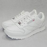 Кроссовки женские Reebok Classic Leather White (в стиле Рибок) 22a2c4ed7dea3