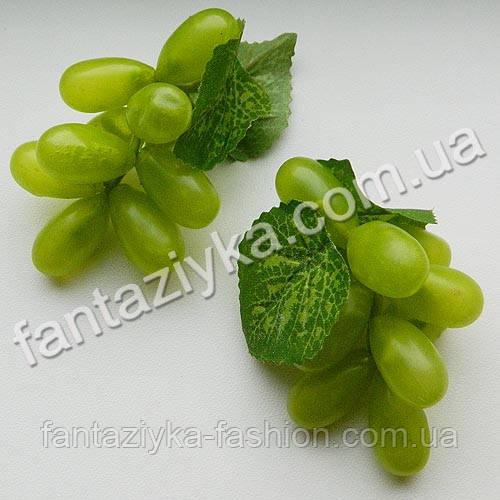 Виноград искусственный длинный 7см, зеленый