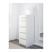 Комод с 6 ящиками IKEA MALM белый 602.180.15