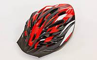Велошлем кросс-кантри YF-11 (красный-черный)