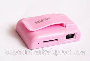 MP3- плеер Atlanfa AT-P24 цветной с прищепкой, pink, фото 2
