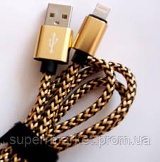 Momax Elite USB-кабель для iPhone 5, iPhone 6, тканьевый плетеный, фото 3