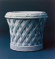 """Садовый вазон из бетона """"Ротанг"""""""