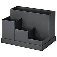 Подставка для канцелярских принадлежностей IKEA TJENA 18x17 см черный 803.954.89