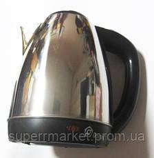Электрочайник дисковый Domotec MS-5001 с нержавейки, фото 3