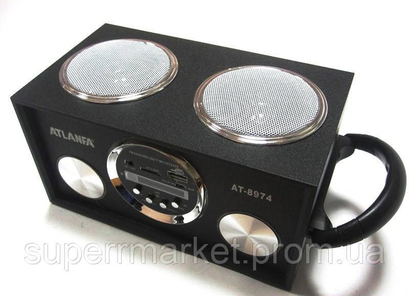 Акустика Atlanfa AT-8974 MP3 SD USB FM , black
