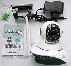 Беспроводная WIFI IP P2P поворотная камера dvr YooSee Onvif YY HD WiFi 6030B 100ss  видеоняня, фото 3