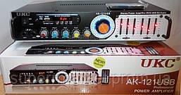 Профессиональный рэковый стерео усилитель AMP UKC AK-121USB c Karaoke, фото 2