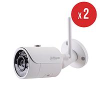 Комплект беспроводного видеонаблюдения на 2 камеры Dahua IN/OUT 1.3 Мп DH-IPC-HFW1120S-W